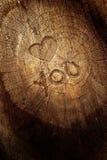 De tekst van de liefde op houten achtergrond Royalty-vrije Stock Fotografie