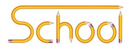 De tekst van de school door potlood Royalty-vrije Stock Foto