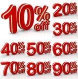 De tekst van de verkoop Stock Foto's