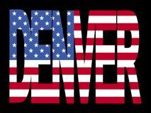 De tekst van Denver met vlag vector illustratie