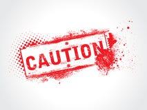 De Tekst van Grunge van de voorzichtigheid stock illustratie