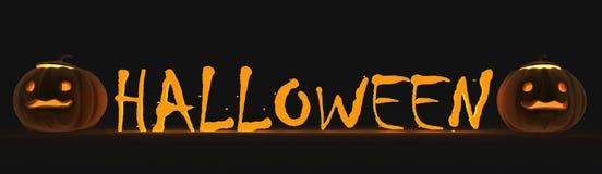 De tekst van Halloween Stock Fotografie