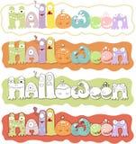 De tekst van Halloweenn Royalty-vrije Stock Fotografie