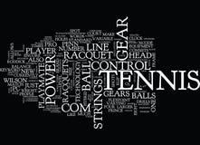 De Tekst van het achtergrond tennistoestel Word Wolkenconcept Royalty-vrije Stock Fotografie