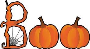 De tekst van het Boe-geroep van Halloween Stock Foto's