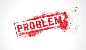 De tekst van het probleem grunge Royalty-vrije Stock Afbeelding