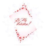 De Tekst van het Type van Dag van de valentijnskaart Royalty-vrije Stock Foto