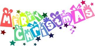 De tekst van Kerstmis Stock Foto's