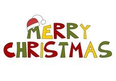 De tekst van Kerstmis: Vrolijke Kerstmis! Stock Foto's