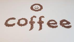 De Tekst van koffiebonen Royalty-vrije Stock Afbeelding