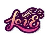 De tekst van de mamma` s Liefde op achtergrond wordt geïsoleerd die stock illustratie