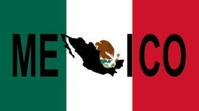 De tekst van Mexico met kaart Royalty-vrije Stock Foto's