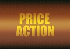 De tekst van de prijsactie royalty-vrije illustratie