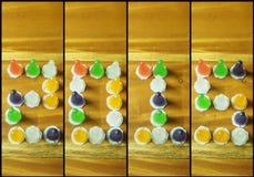 de tekst van 2015 van kleurrijk van gelei Stock Foto