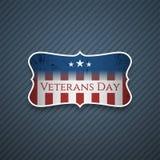 De Tekst van de veteranendag op realistische Banner stock illustratie