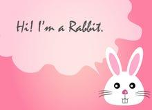 De tekstcitaat van het konijngezicht, konijnvector, konijngezicht Stock Afbeeldingen