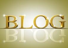 De tekstconcept van Blog stock illustratie