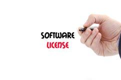 De tekstconcept van de softwarevergunning stock foto