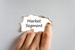 De tekstconcept van het marktsegment royalty-vrije stock afbeeldingen