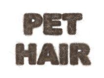 De Tekstillustratie van het huisdierenhaar op Wit Royalty-vrije Stock Afbeeldingen