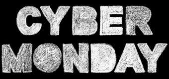 De tekstinschrijving van de Cybermaandag vette letter Royalty-vrije Stock Afbeeldingen
