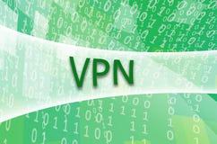 De tekstinschrijving VPN wordt geschreven op een semitransparent gebied s stock foto's