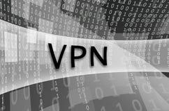 De tekstinschrijving VPN wordt geschreven op een semitransparent gebied s vector illustratie