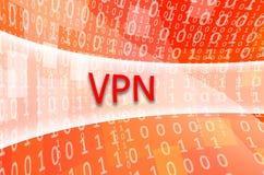 De tekstinschrijving VPN wordt geschreven op een semitransparent gebied s royalty-vrije illustratie
