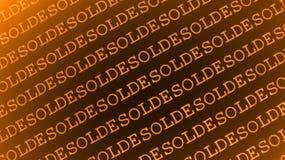 De tekstontwerp van Solde Stock Fotografie