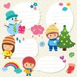 De tekstvakje van Kerstmisjonge geitjes ontwerp Royalty-vrije Stock Afbeeldingen