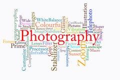 De tekstwolk van de fotografie Royalty-vrije Stock Foto's