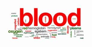 De tekstwolken van het bloed Royalty-vrije Stock Afbeeldingen