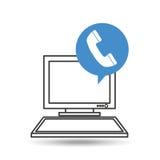 De telefoon communicatie van de computerdesktop sociaal netwerk Royalty-vrije Stock Fotografie