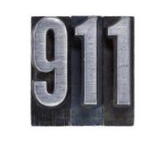 De telefoon nummer 911 van de noodsituatie Royalty-vrije Stock Foto's