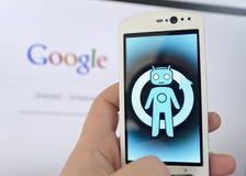 De telefoon van Cyanogenmod stock foto's
