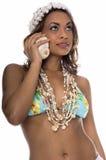 De Telefoon van de Cel van het eiland stock afbeelding