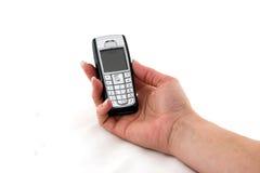 De telefoon van de cel in womanshand Royalty-vrije Stock Foto