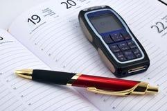 De telefoon van de pen en van de cel royalty-vrije stock foto's