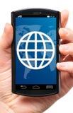 De telefoon van het aanrakingsscherm Stock Fotografie