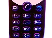 De telefoon van het neon royalty-vrije stock afbeelding
