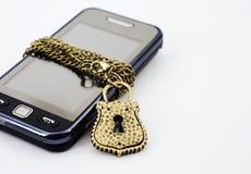 De telefoon van het slot stock afbeelding