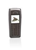 De telefoon van Mobil met muziekspeler Stock Afbeelding