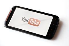 De telefoon van Youtube Stock Afbeeldingen