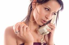 De telefoonappel van de vraag stock afbeelding