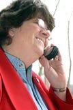 De telefoonbespreking van de cel Stock Foto