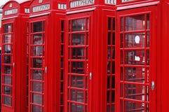 De telefooncabines van Londen Royalty-vrije Stock Foto's