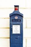 De telefooncel van de politie Royalty-vrije Stock Foto's