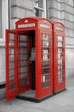 De Telefooncellen van Londen Royalty-vrije Stock Fotografie