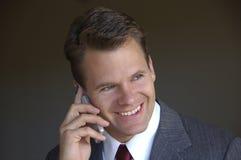 De telefoongebruik van de cel Stock Foto