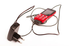 De telefoonlader van de cel Stock Foto
